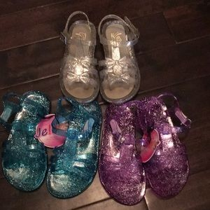 3 pc bundle Jelly shoes size 10